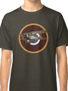 Vintage Look Nieuport fighter biplane on French Emblem Classic T-Shirt