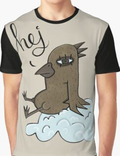 Cloudy Lazy Bird – Hej Means Hello Graphic T-Shirt