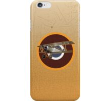 Vintage Look Nieuport fighter biplane on French Emblem iPhone Case/Skin