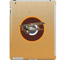 Vintage Look Nieuport fighter biplane on French Emblem iPad Case/Skin