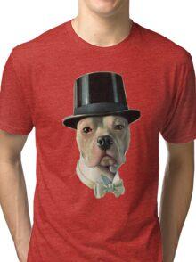 Vintage Dog stafford bull terrier Tri-blend T-Shirt