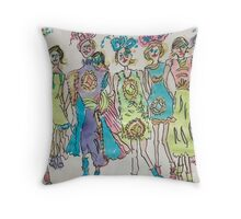 The Show Begins Throw Pillow