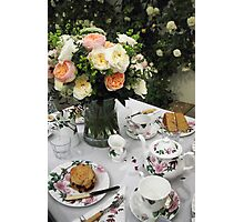 """Tea is Served in the Rose Garden, Madam"" Photographic Print"
