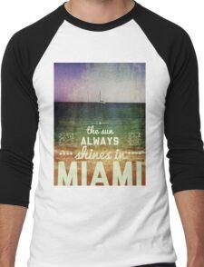 Miami Super Vintage Men's Baseball ¾ T-Shirt