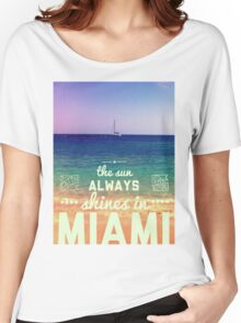 Miami Retro Women's Relaxed Fit T-Shirt