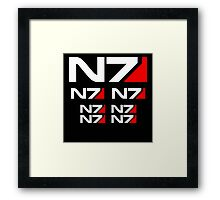 Mass Video Game Normandy 7 Framed Print