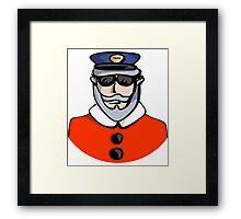 Santa Cop Framed Print