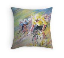 Yellow Triumph Throw Pillow