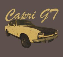 Vintage Aged Look Ford Capri GT Graphic by VintageSpirit