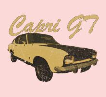 Vintage Aged Look Ford Capri GT Graphic One Piece - Short Sleeve