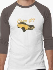 Vintage Aged Look Ford Capri GT Graphic Men's Baseball ¾ T-Shirt