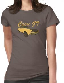 Vintage Aged Look Ford Capri GT Graphic Womens Fitted T-Shirt
