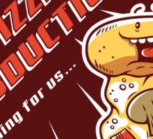 Pizza Abduction Sticker