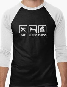 Eat - Sleep - Play chess Men's Baseball ¾ T-Shirt