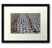 Close-up Crossword Puzzle Framed Print