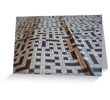 Close-up Crossword Puzzle Greeting Card