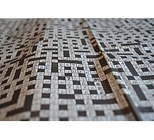 Close-up Crossword Puzzle Photographic Print