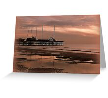 Sunset on South Pier. Greeting Card