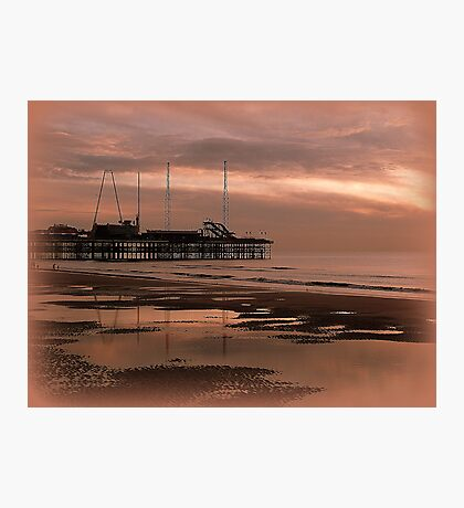 Sunset on South Pier. Photographic Print