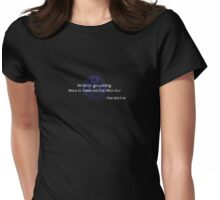 Timelord Man-flu Womens Fitted T-Shirt
