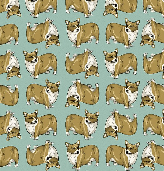 Corgi pattern by neonflower