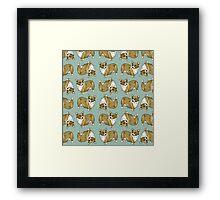 Corgi pattern Framed Print