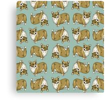 Corgi pattern Canvas Print