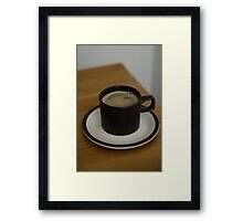 Coffee in a 1970s cup Framed Print