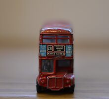 Old Dinky toy London bus by wittieb