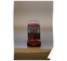 Old Dinky toy London bus Poster