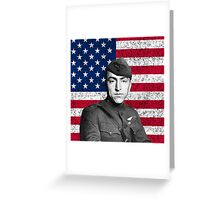 Eddie Rickenbacker And The American Flag Greeting Card