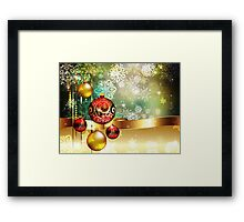 Colorful Background with Xmas Balls 2 Framed Print