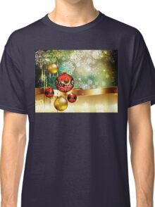 Colorful Background with Xmas Balls 2 Classic T-Shirt