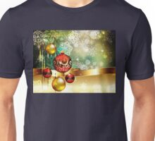 Colorful Background with Xmas Balls 2 Unisex T-Shirt