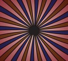 Blue and red swirl pattern Sticker
