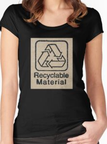 Recyclable Material Women's Fitted Scoop T-Shirt
