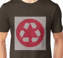Recycle logo in red Unisex T-Shirt