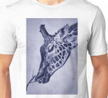 Fractal Giraffe Duotone Unisex T-Shirt