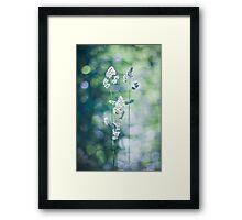 Grass Bokeh Framed Print