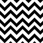 Zigzag (Chevron), Stripes, Lines - White Black by sitnica