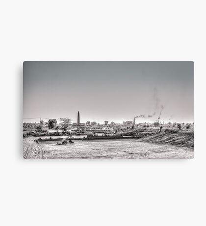 Summer and brick factory Canvas Print