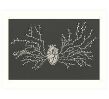 Anatomical Botanical Heart Paper-cut Art Print