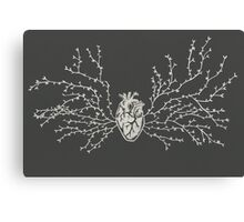 Anatomical Botanical Heart Paper-cut Canvas Print
