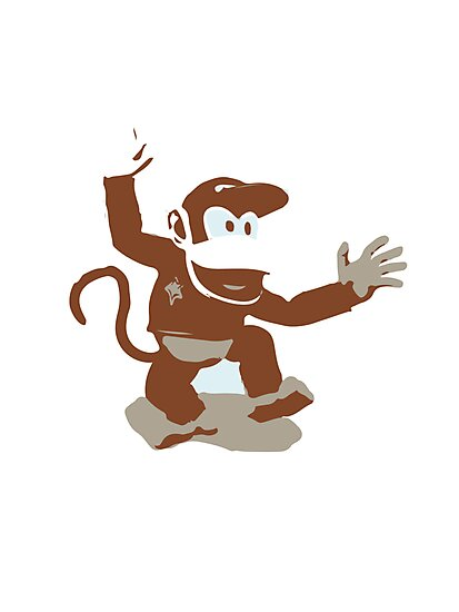 Minimalist Diddy Kong from Super Smash Bros. Brawl by Himehimine