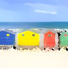 Beach Huts by Ian Jeffrey