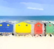 Beach Huts by Ian Jeffrey