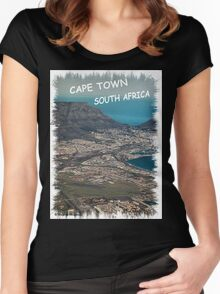 CAPE TOWN, SOUTH AFRICA - KAAPSTAD SUID AFRIKA! Women's Fitted Scoop T-Shirt