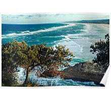 Beach view from Point Lookout Poster