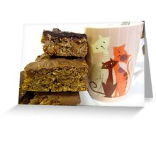 YUMMY CAKES AND TEA Greeting Card