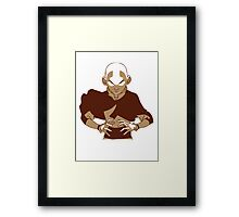 Minimalist Aang from Avatar the Last Airbender Framed Print